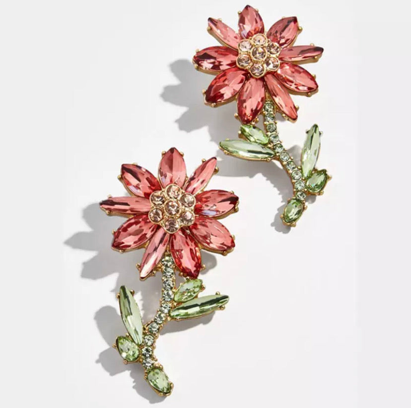 Blingin' Blooms Earrings