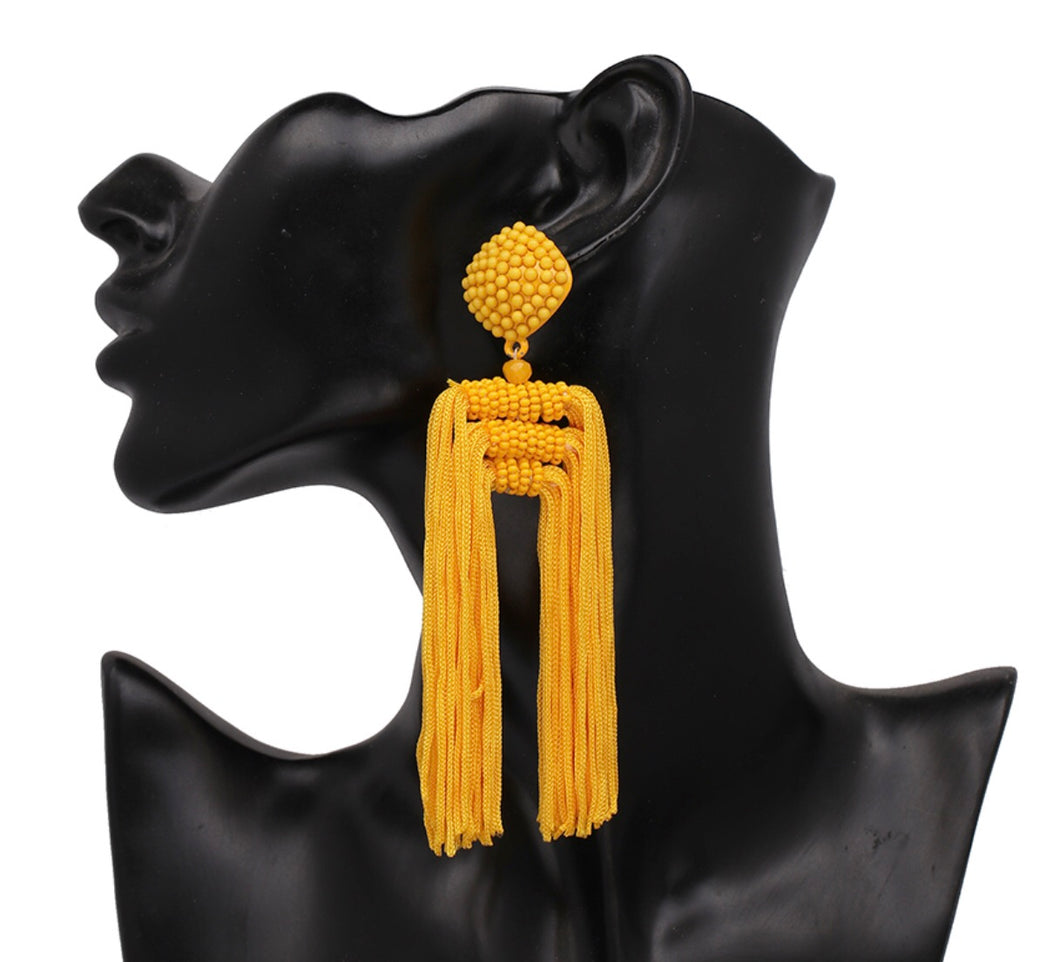 Shine Like Marigold Tassel Earring