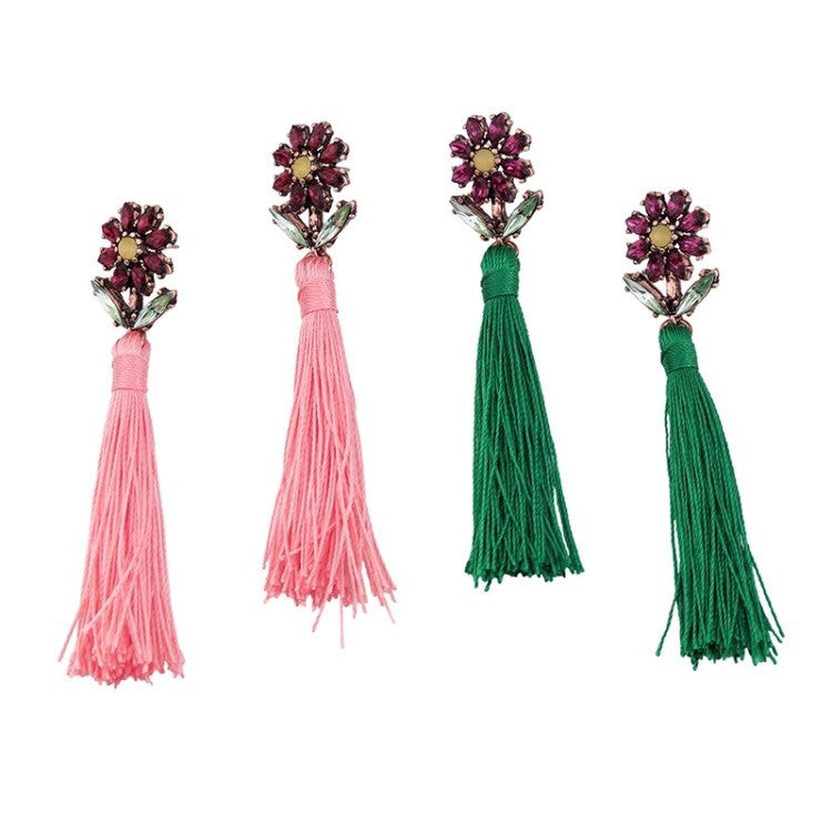 Spring Fever Tassel Earrings
