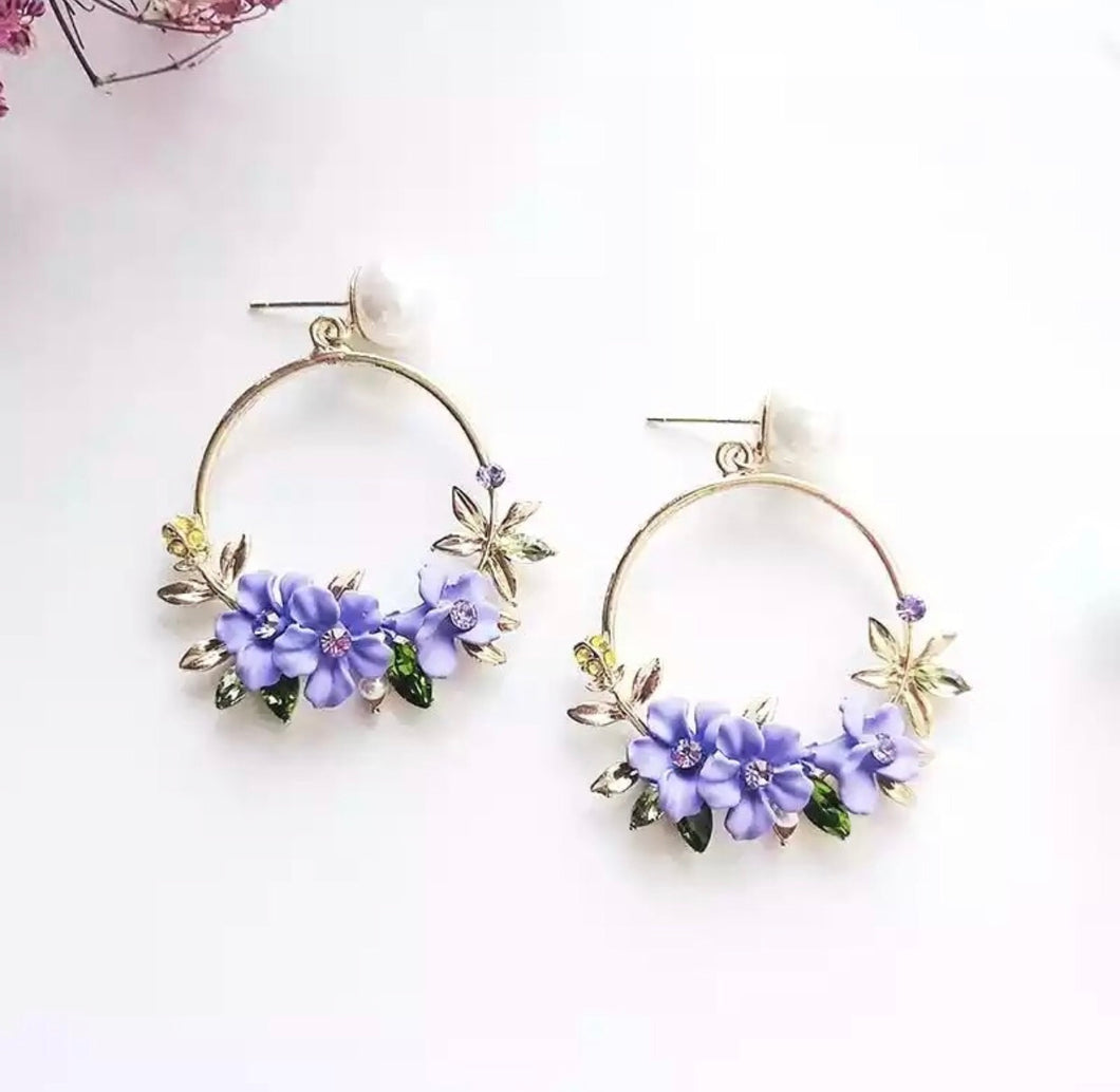 Aqua De Violetas Earrings