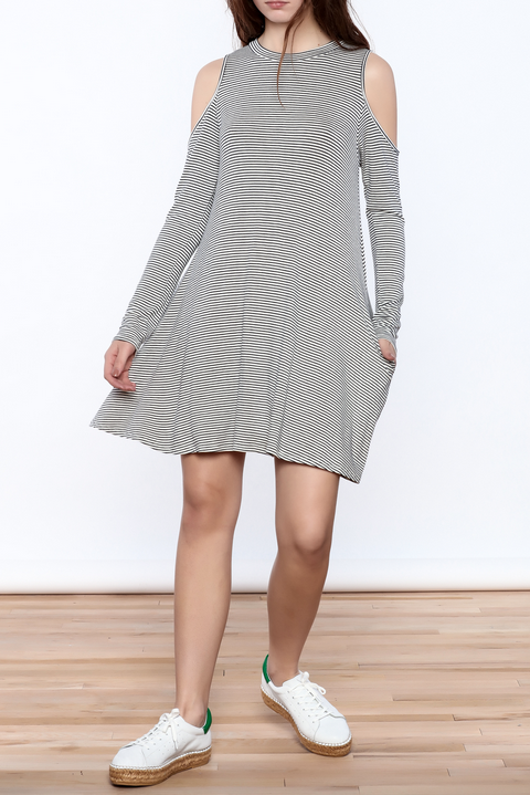 Cold Shoulder Pocketed Tunic