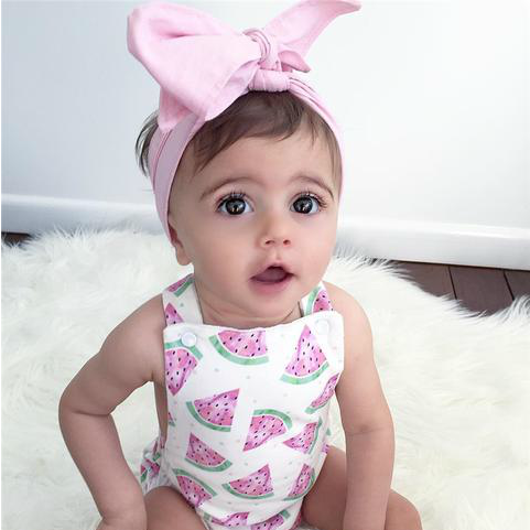 Outfit 2-Piece Watermelon Romper & Bow Set Wild Kinder
