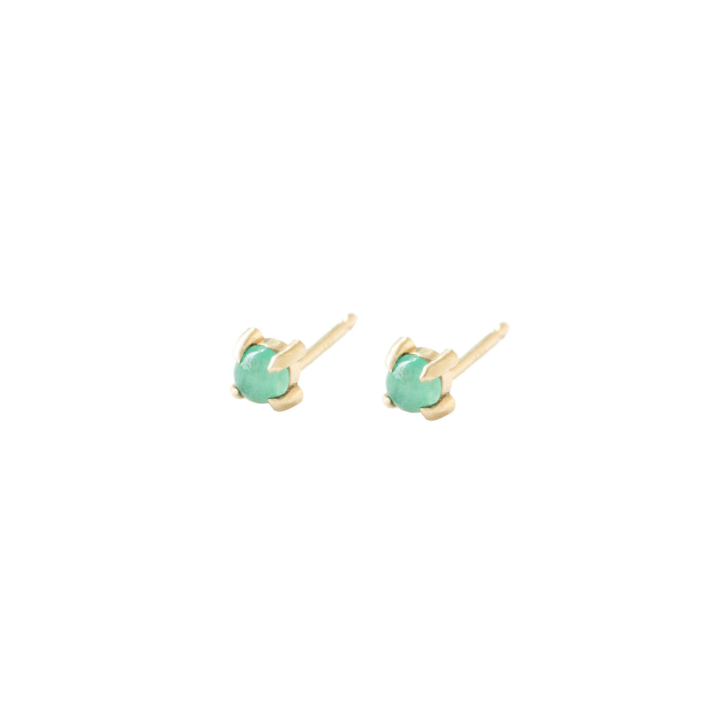Emerald stud by Ivy Design Jewellery