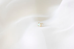 14k gold Opal Stud by Ivy Design Jewellery