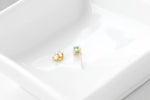 14k Gold Emerald Studs by Ivy Design Jewellery
