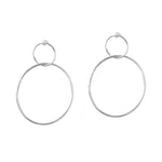 Sterling Silver Double hoop earrings
