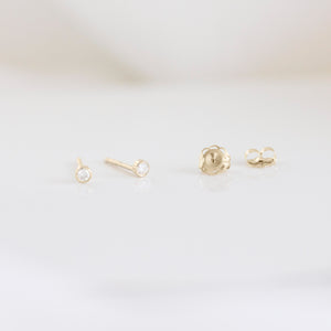 Moissanite Stud Earrings | 14ct