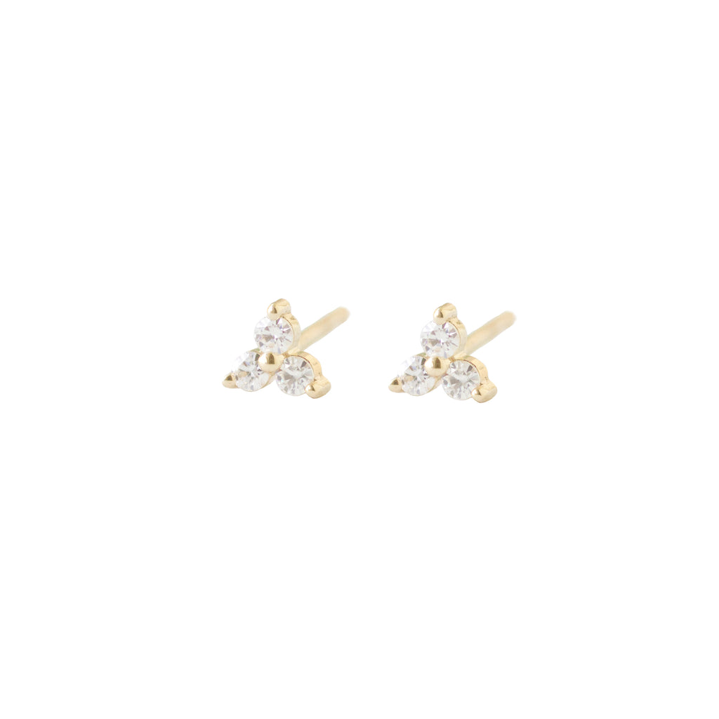 Trio Diamond Studs by Ivy Design Jewellery