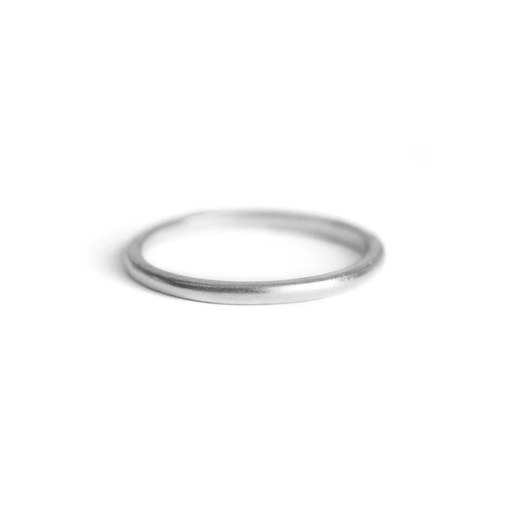 Satin finish silver ring
