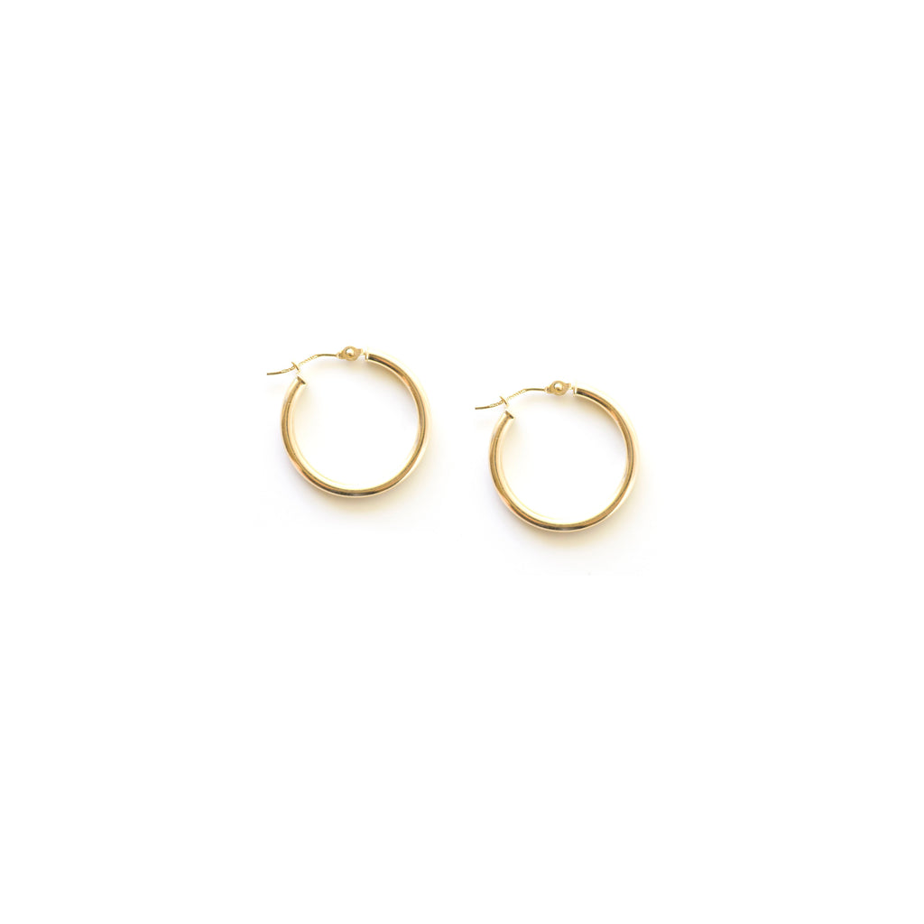 Classic Gold Hoops - small