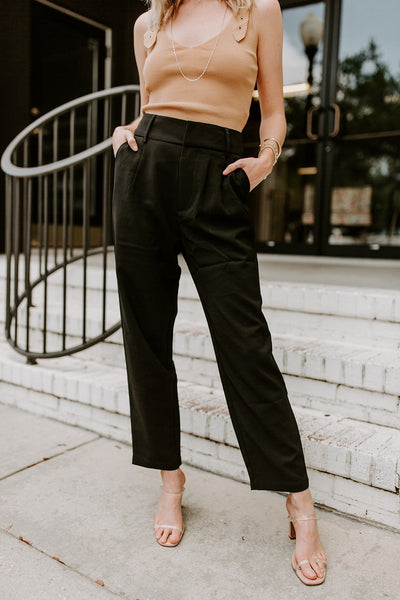 TAILORED HIGH WAISTED PANTS