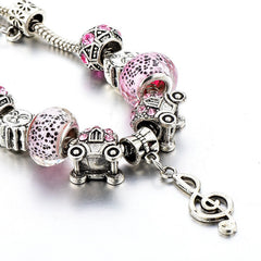 Music Note European Charm Bracelet