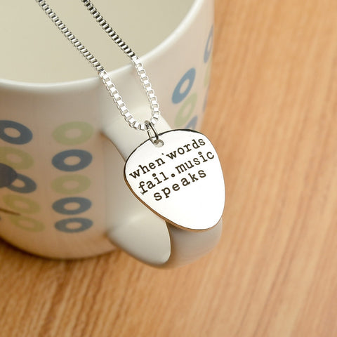 Handmade Guitar Pick Necklace