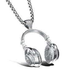 DJ Headset Music Necklace