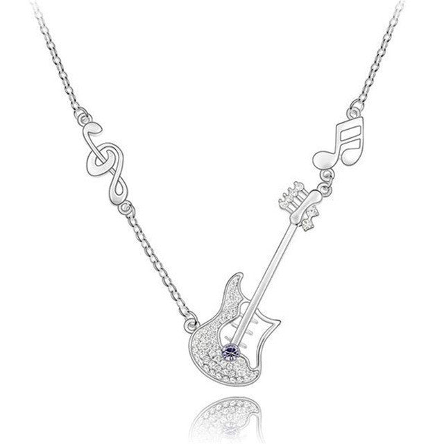Guitar Pendant Necklace