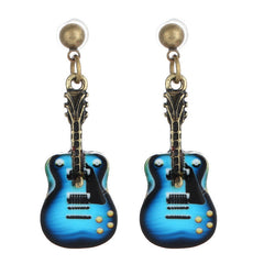 Beautiful Guitar Shaped Drop Earrings