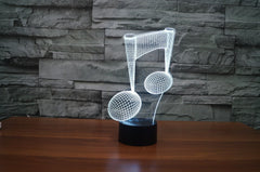 Musical Note LED Night Lamp