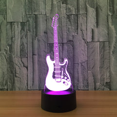 Electric LED Guitar Night Lamp