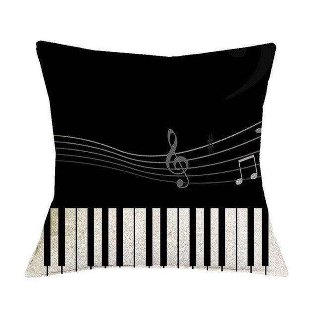 Musical Decorative Cushion Cover Pillow Cases