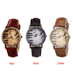 Newly Designed Piano Lovers Leather Watch