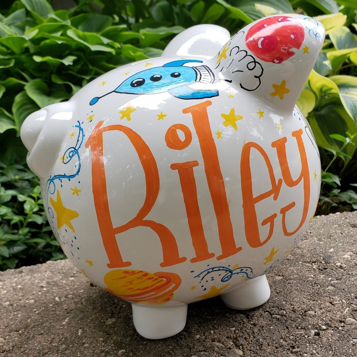 Blast Off Piggy Bank