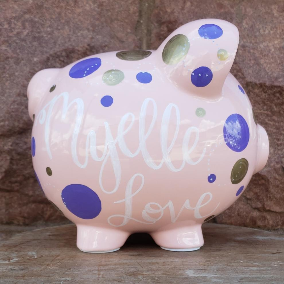 Polka Dots Piggy Bank
