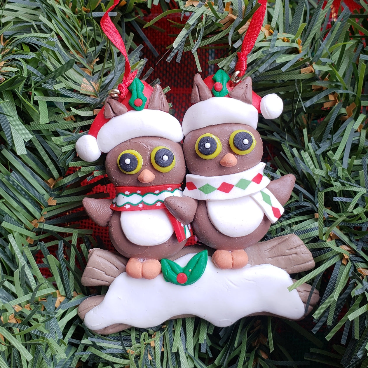 Owl Couple Ornament