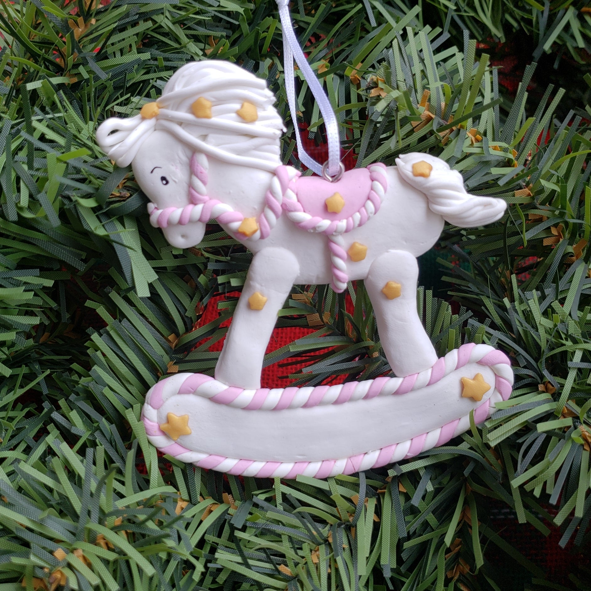 Baby's First Christmas Rocking Horse Ornament