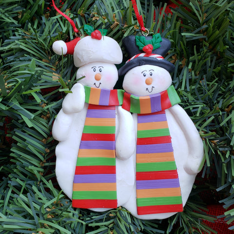 Grandma and Grandpa Scarf Ornament