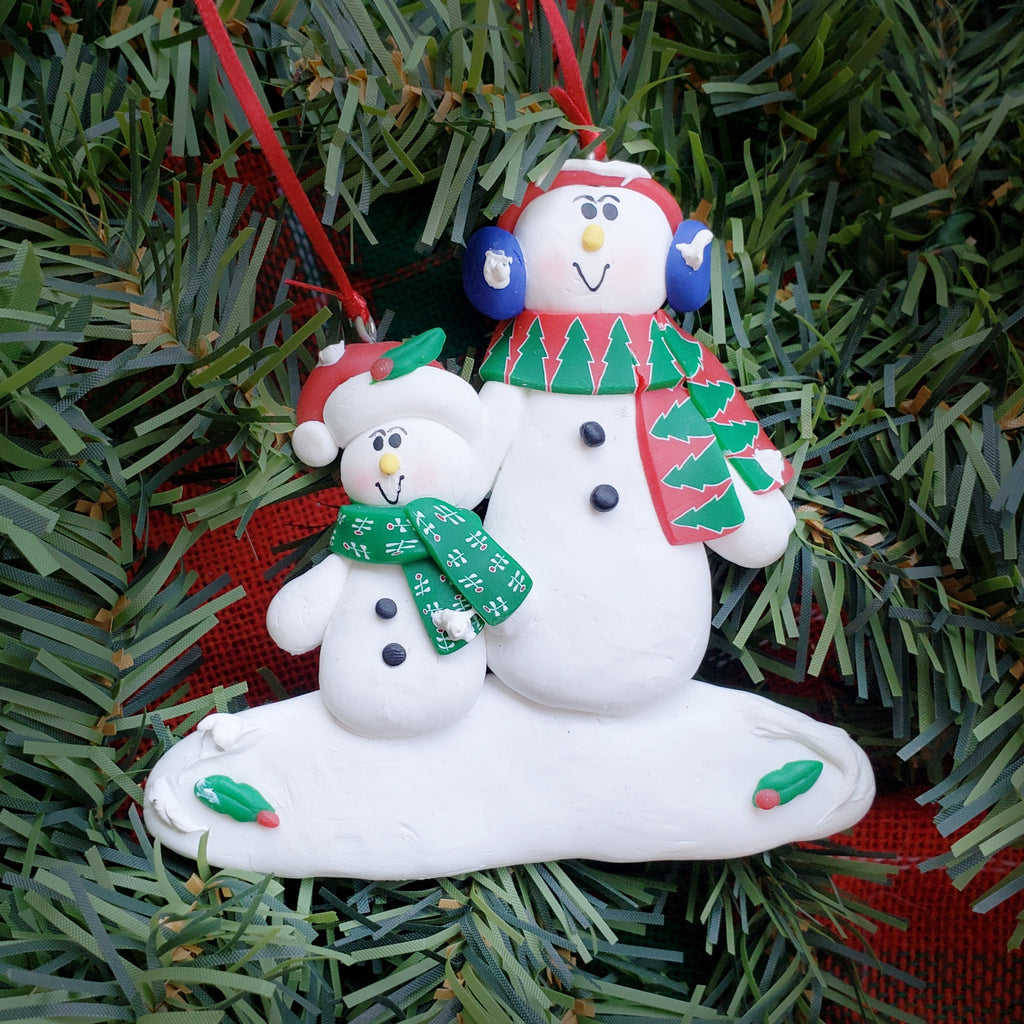 Single Snowman with Kids Ornament