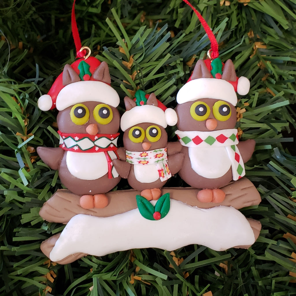 Owls Family Ornament