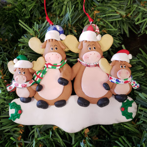 Moose Family Ornament