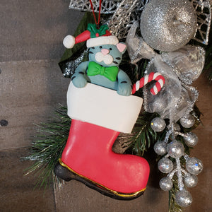 Cat in Boot Personalized Ornament