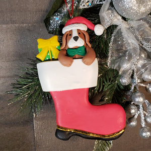 Dog in Boot Personalized Ornament