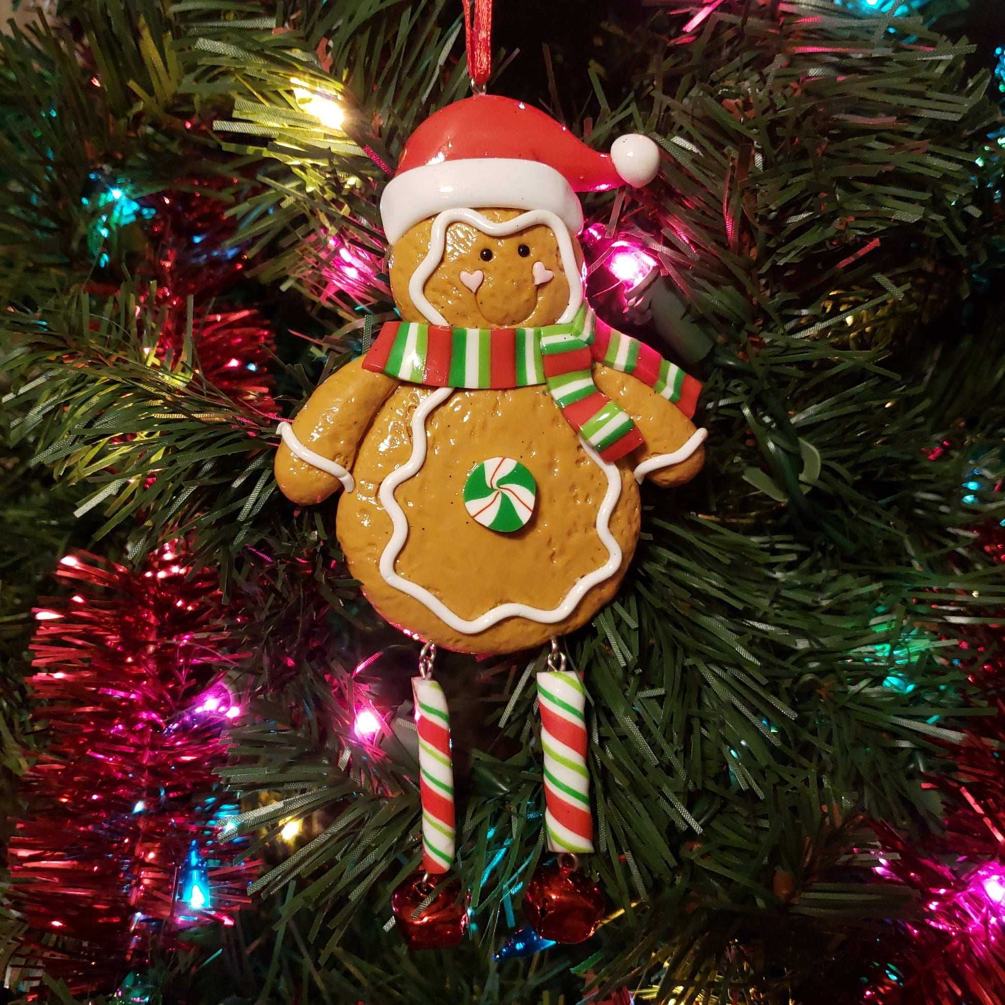 Gingerbread with Dangle Legs Ornament