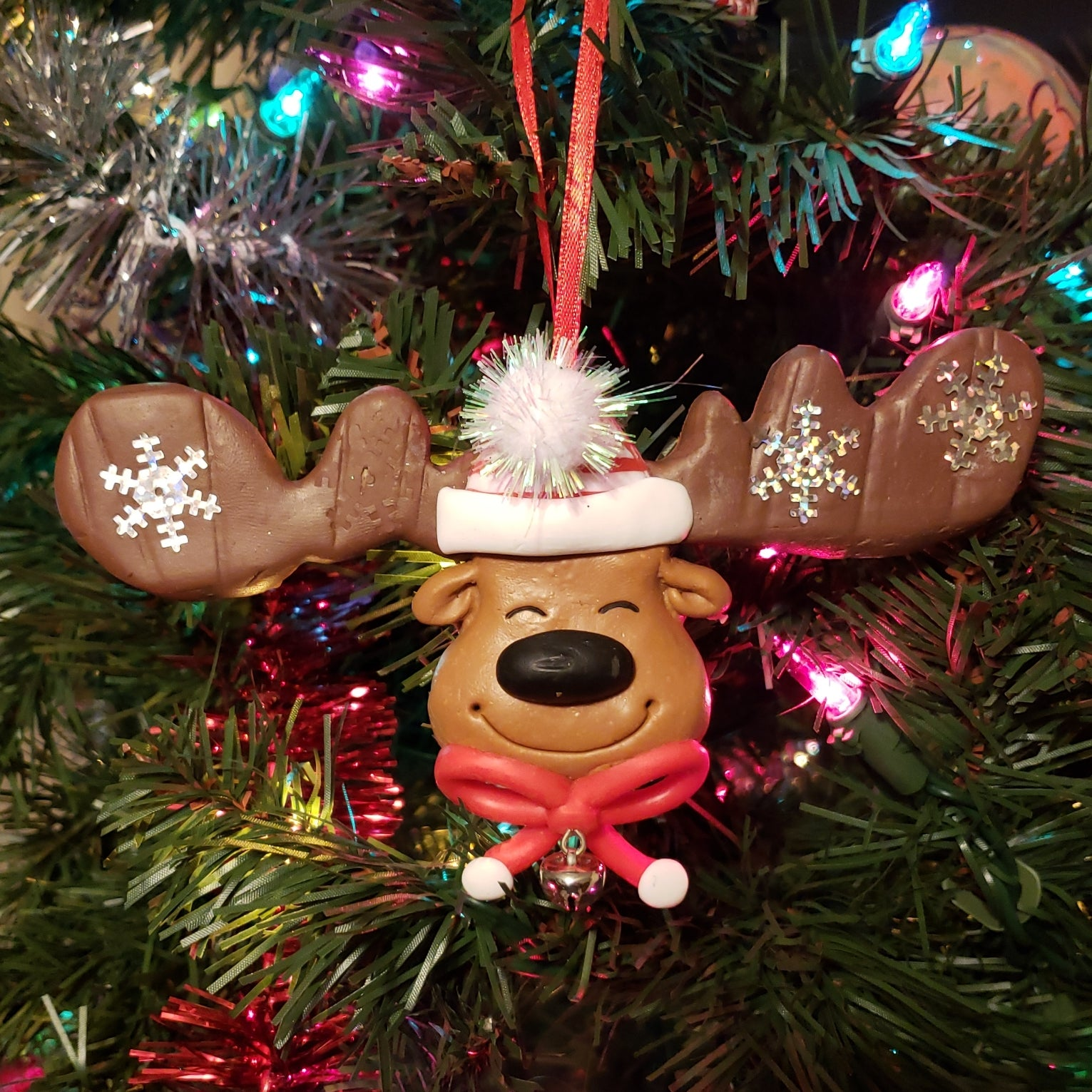 Big Antler Reindeer Ornament