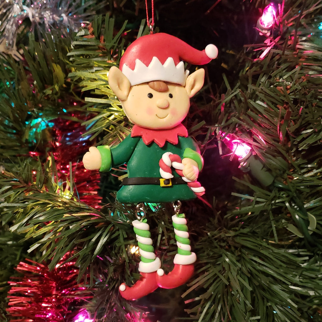 Elf with dangle legs Ornament