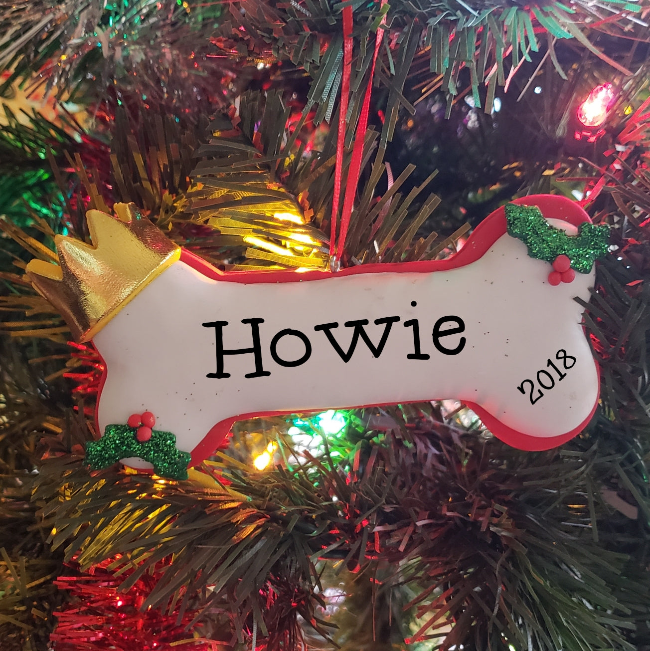 Dog Bone Personalized Ornament