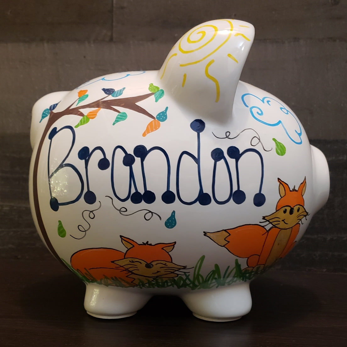 Foxes Piggy Bank