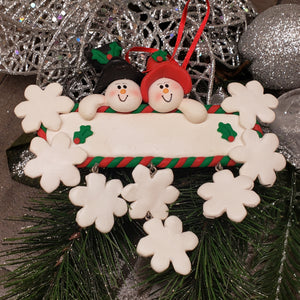 Dangling Snowflakes Family Ornament