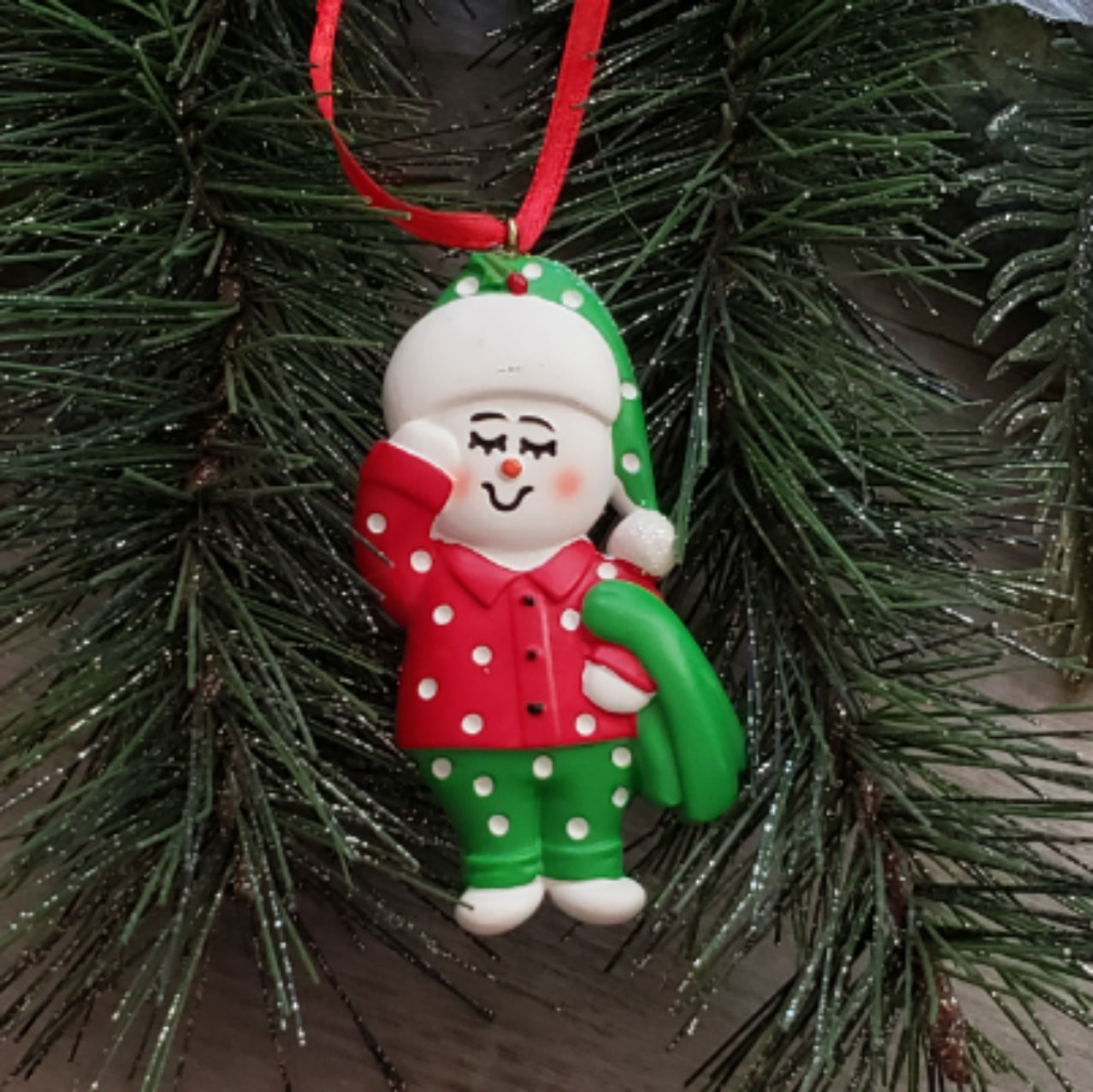Sleepy Snowkid Ornament