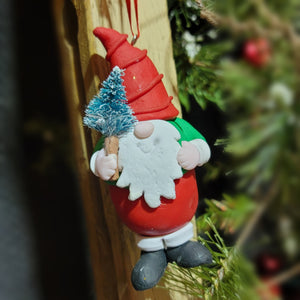Gnome with tree Ornament