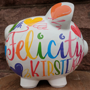 Rainbow Piggy Bank