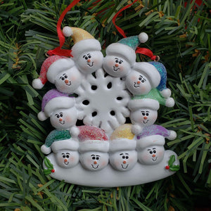 Snowman Heads Family Ornament