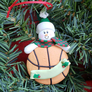 Snowman with Basketball Ornament