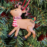 Reindeer with Scarf Ornament