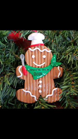 Gingerbread cook ornament male