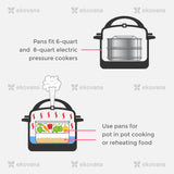 Instant pot accessories - stackable stainless steel pans fit 6 quart instant pots perfectly