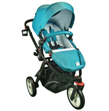 Milikai Co Pilot Pram Bay Blue Front View