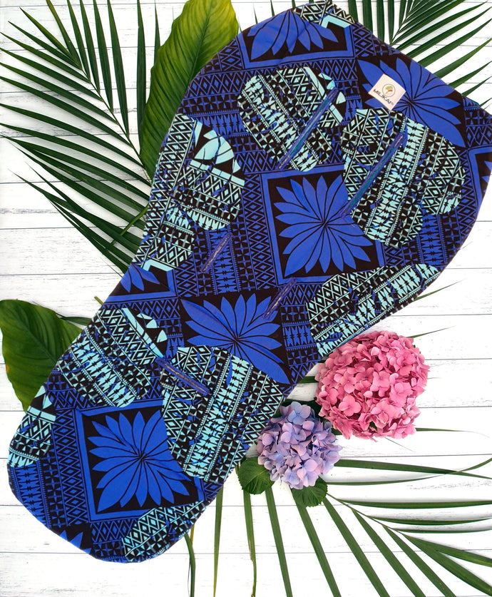 MILIKAI CO Universal Pram Liner Pasifika Blue Monstera Sea Pattern